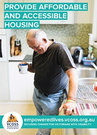 Provide affordable and accessible housing - man standing in his kitchen with cup of coffee